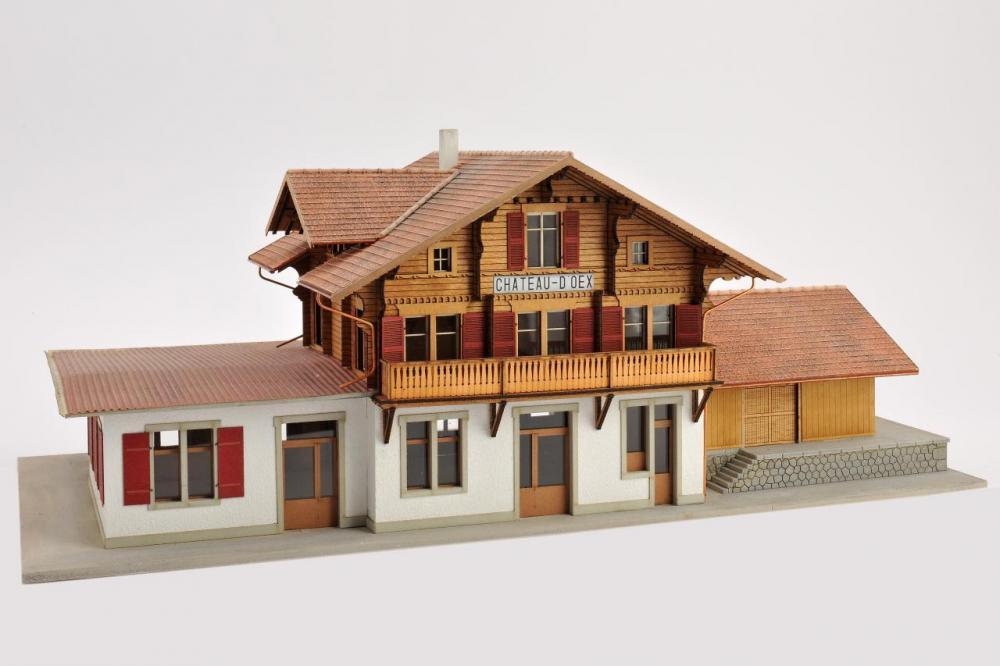Gare de Château d'Oex (version d'origine)(H0)