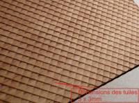 Plaque de toiture ardoise losange
