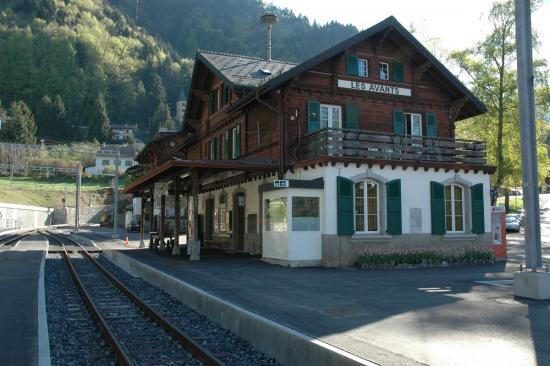 Gare MOB Les Avants (H0m)